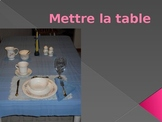 Mettre la table (Set the Table in French) PowerPoint