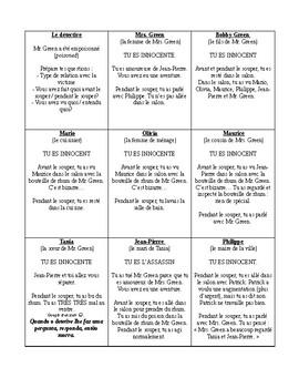 Meurtre et mystère - Groupe de 11 élèves