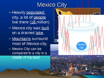 Mexcio City Air Pollution, Amazon Deforestation Venezuela Oil Pollution ppt