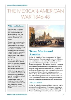 Mexican American War 1846-48 Study Guide