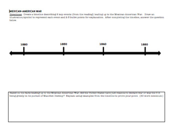 Mexican American War:  A Timeline