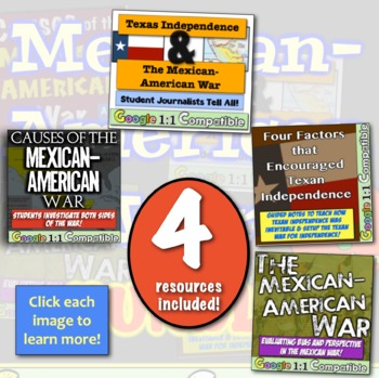 Mexican-American War Bundle!  4 Engaging Resources for the Mexican American War!