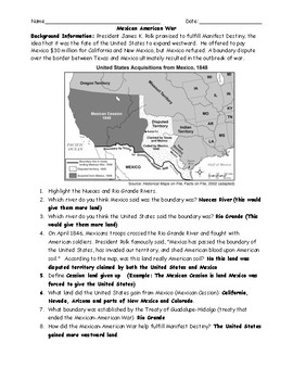 Mexican American War Bundle with Answer Keys