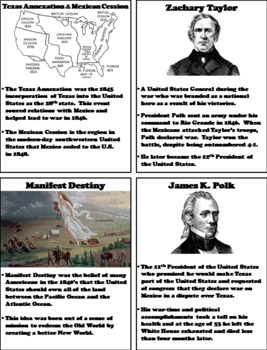 Mexican American War Interactive Notebook Activity