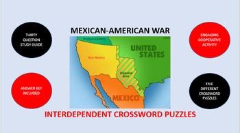 Mexican-American War: Interdependent Crossword Puzzles Activity