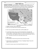 Mexican American War/ Mexican Cession Map Worksheet with A
