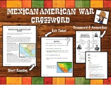 Mexican American War Reading and Crossword Puzzle