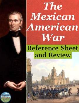 Mexican-American War Reference Sheet and Review Activities