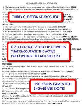 Mexican-American War: Study Guide and Activity Pack