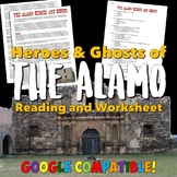 """Remember the The Alamo!"" Heroes and Ghosts Reading & Worksheet"