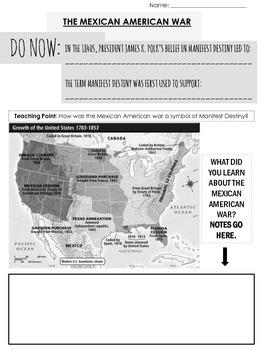 Mexican American War Worksheet