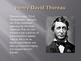 Mexican American War and Thoreau A Common Core Activity