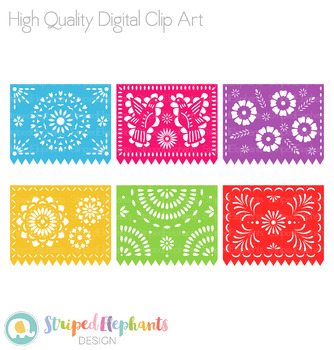 Mexican Banners Clip Art - Papel Picado Clipart by ...