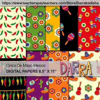 Mexican Cinco De Mayo Clip Art Bundle - Commercial use