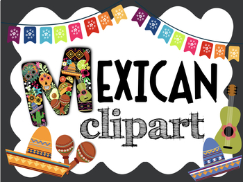Colorful Mexican ClipArt! Food, Decorations, Famous Artists, Sugar Skulls & more