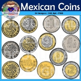 Mexican Coins Clip Art (Pesos, Centavos, Cents, Dollars, Money, realistic)