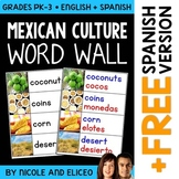 Word Wall - Mexican Culture Vocabulary