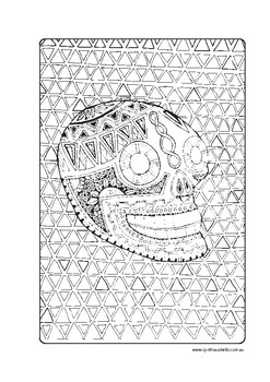 Mexican Day of the Dead Coloring Page