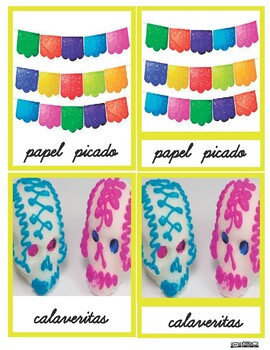 Mexican Day of the dead 3P Cursive Cards