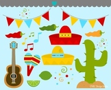 Mexican fiesta clipart commercial use