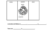 Mexican Flag with Spanish Vocabulary and Sentence Stems Ci