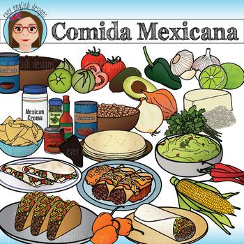 Comida Mexicana/ Mexican Food Clip Art