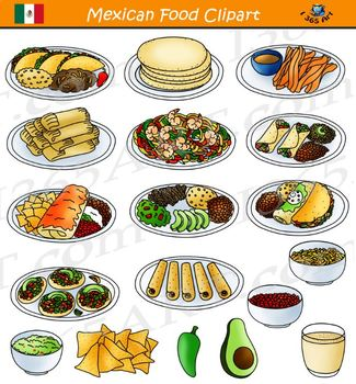 Mexican Food Clipart Comida By I 365 Art Clipart 4 School Tpt