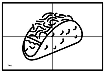 Mexican Food Collaborative Art Project, Coloring Pages, Mexico Art Sub Plan