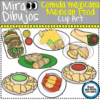 mexican food comida mexican clip art by mira dibujos clip art tpt rh teacherspayteachers com mexican food clip art black and white mexican food clipart png
