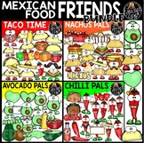 Mexican Food Friends Clip Art Bundle {Educlips Clipart}