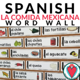 Spanish Food and Culture - Mexican Food Vocabulary Word Wa