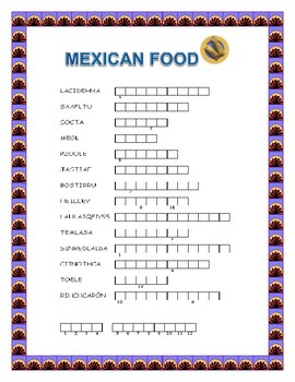 Mexican Food Word Search and Double Puzzle- Hispanic Heritage Month