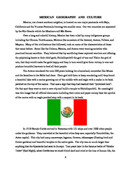 Mexican Geography and Culture (expanded)