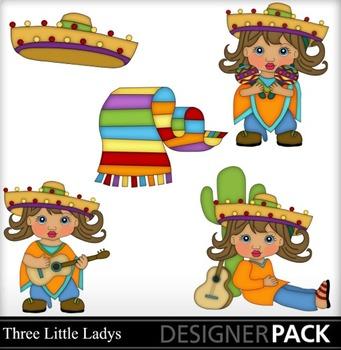 Mexican Girl- Brown hair