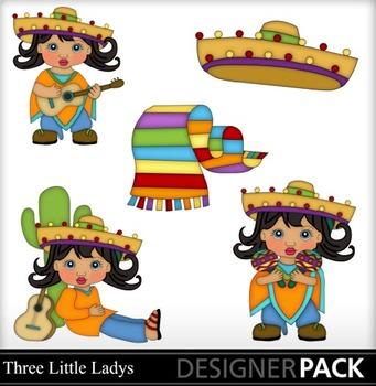Mexican Girl- black hair