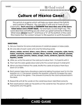Mexican Government Gr. 5-8 - BONUS WORKSHEETS