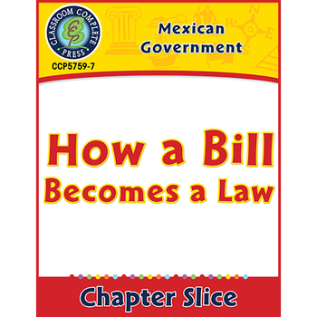 Mexican Government: How a Bill Becomes a Law Gr. 5-8