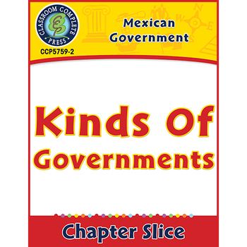 Mexican Government: Kinds of Governments Gr. 5-8
