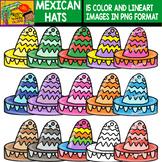 Mexican Hats - Cliparts Set - 15 Items