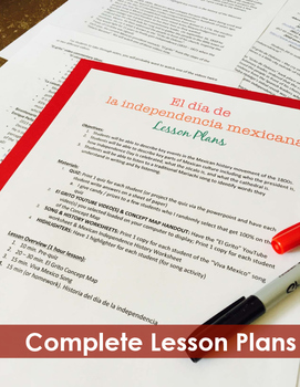 Mexican Independence 1 Hour Lesson - Beginning Spanish Middle & High School