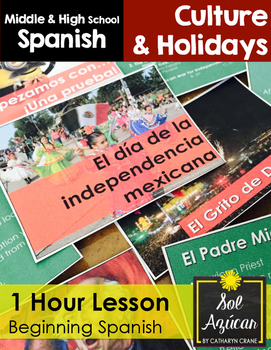 mexican independence 1 hour lesson beginning spanish middle high school. Black Bedroom Furniture Sets. Home Design Ideas