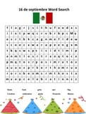 Mexican Independence Day 16 de septiembre Wordsearch
