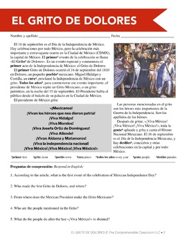 Mexican Independence Day plans for Spanish class & El grito de Dolores