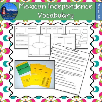 Mexican Independence Vocabulary