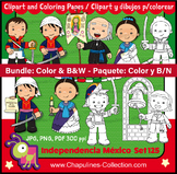 Mexican Independence clip art, Heroes, Color and B/W Bundle Set 125