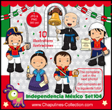 Mexican Independence clip art, Heroes, México illustrations, fiesta set 104