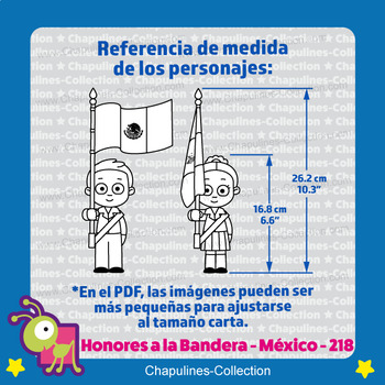Mexican Kids honoring the Mexican Flag Clipart, black and white Set 218