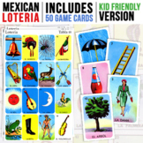 Mexican Loteria   Kid Friendly   50 Game Cards Included