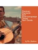 Mexican Mariachi Suit Montessori Three Part Cards in Engli