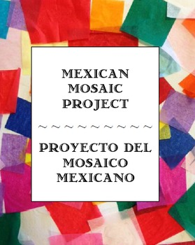 Mexican Mosaic Tile Project with Spanish color practice